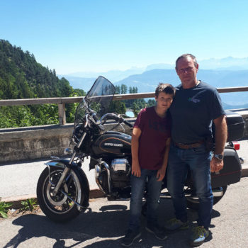 Stephan con Michael al Passo Mendola